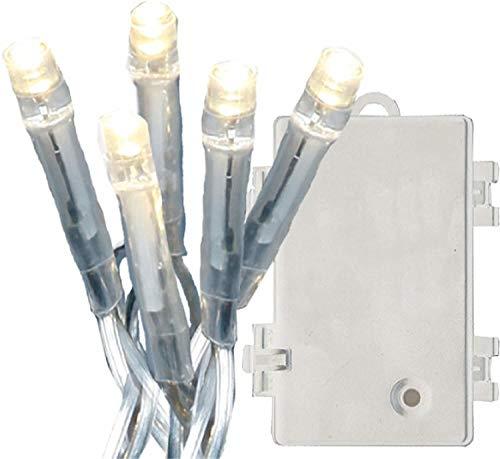 Smart Planet® hoogwaardige lichtketting 160 LEDs warmwit timer batterij indoor Outdoor 5,6 m lengte kabel kleurloos kerstverlichting ketting raam