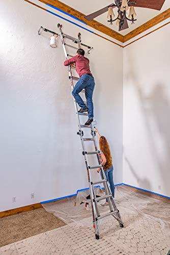 Little Giant Ladders, Epic, M22, 22 foot, Multi-Position Ladder, Aluminum, Type 1A, 300 lbs weight rating, (16822-818)