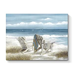 TAR TAR STUDIO Abstract Seascape Canvas Wall Art: ...