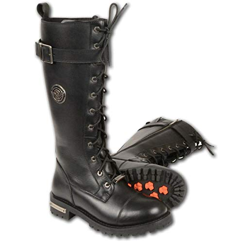 Milwaukee Leather Women's Tall Boots with Lacing