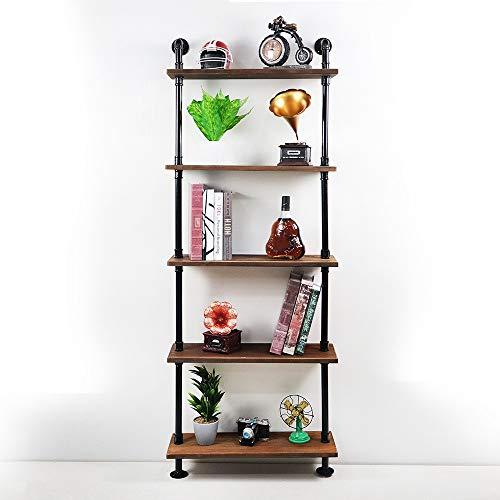 Ramingt-Home ijzeren wandrekken 5 lagen industrieel wandrek ladder rek DIY ijzeren buizen staan boekenkast praktische opslag rek stalen wandrekken opslag display-rek