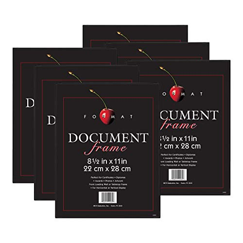 MCS Format Frame, 8.5 x 11 in, Black, 6 Count