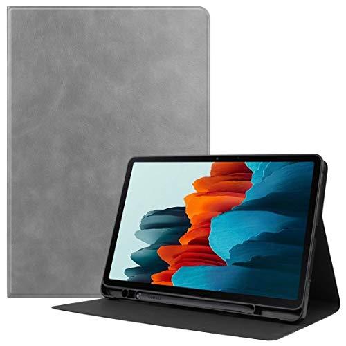 Xyamzhnn HH-Funda telefónica para Samsung Galaxy Tab S7 (2020) T870 Textura de Piel de Vaca TPU Tablet Horizontal Flip Funda de Cuero con Titular y sueño/función de activación y Ranura de la Pluma