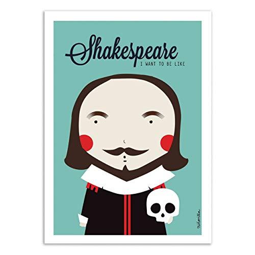 Wall Editions Art-Poster - Shakespeare - Ninasilla