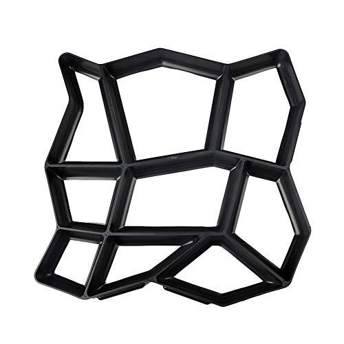 ieenay DIY Betonform Schalungsform Gießform Plastikformen für Beton Boden Pfad Maker Mold Betonform Wiederverwendbare DIY Pflaster Durable für Garten Rasen