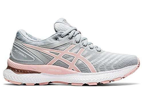 ASICS Women's Gel-Nimbus 22 Running Shoes, 10.5M, White/Rose Gold