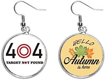Pendientes de ojo de toro Miss Target Objetivo Art Deco para regalo de moda con diseño de hojas de otoño