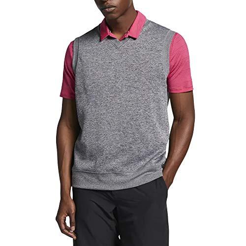 Nike Dri Fit Vest Tech OLC Golf Sweater 2019 Charcoal Heather/Black Medium
