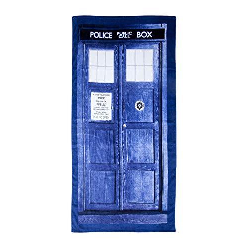 Doctor Who Tardis - Toalla de Playa o baño (59 Pulgadas de Largo x 29 1/2 Pulgadas de Ancho)