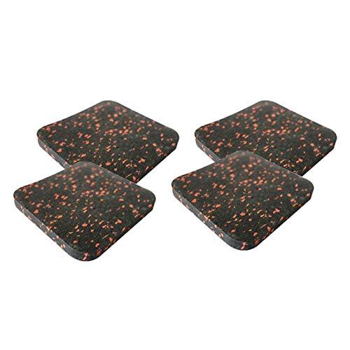 CALIDAKA Schalldämmende Gummimatte für Laufband, Übungsgerät, Laufbandmatte für Teppichschutz, schützende Anti-Rutsch-Laufband-Pad, für Hartholzböden und Teppichschutz