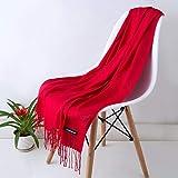 N / A - Bufanda unisex de invierno para hombre, color negro y gris, color rojo