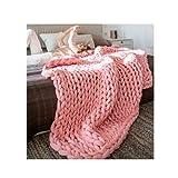 Manta gruesa y cómoda para sofá de algodón puro, manta gruesa tejida a mano, manta de lana gruesa para baño, alfombra para dormitorio, 10 tamaños