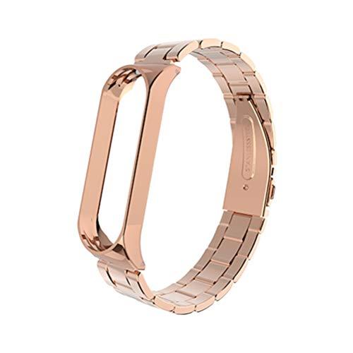 Hemobllo compatível com Xiaomi Mi Band 3 pulseira de substituição para relógio inteligente pulseira compatível com Mi Band 3 (ouro rosa)