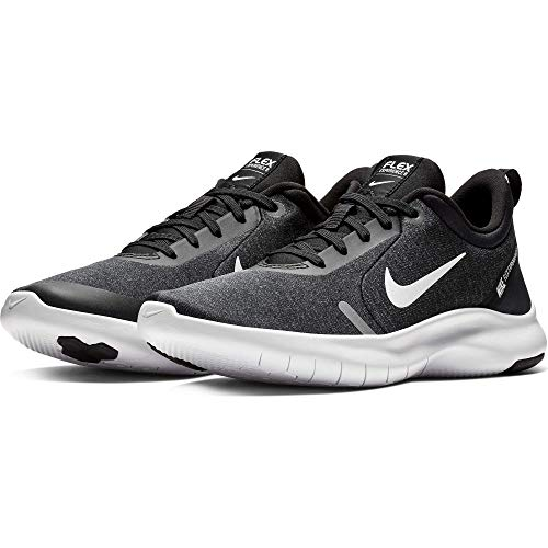 Nike Women's Flex Experience Run 8 Shoe, Black/White-Cool Grey-Reflective Silver, 8.5 Regular US