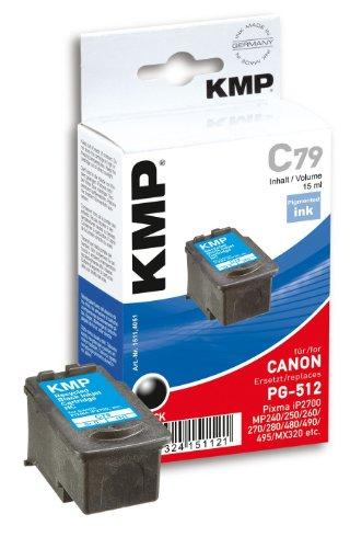 KMP C79 Negro cartucho de tinta - Cartucho de tinta para impresoras (Negro, Canon: Pixma IP 2700, Pixma MP 230, Pixma MP 235, Pixma MP 250, Pixma MP 260, Pixma MP 270, Pixma..., Inyección de tinta, Caja)