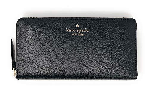 Kate Spade New York Sam Large Continental Leather Wallet (Black)