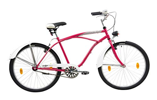 Leader Flying Ace Bici Crucero, Women's, Rosado, 26''