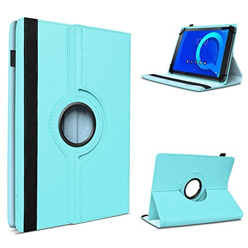UC-Express Tablet Tasche kompatibel für Alcatel Pixi 4 7 Zoll Hülle Schutzhülle 360 Drehbar Cover Universal Hülle, Farben:Türkis