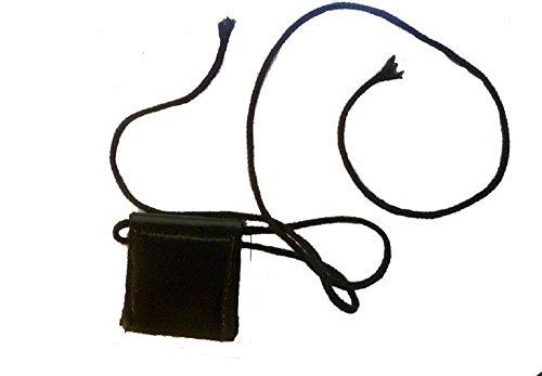 Hidden Gems Taweez Tawiz Arm Wrist Band Locket Necklace Amulet Pouch Soft Leather Type (Neck taweez)