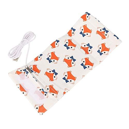USB Babyflaschenwärmer tragbare Reise Säuglingsbaby Konstante Temperatur Milchwärmer Fütterung Flaschenwärmer Heizung(Fuchs)