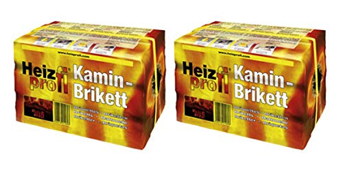 Braunkohle Kaminbriketts Heizprofi - hoher Energiegehalt dadurch sehr hohe Wärmeabgabe 2x10 kg