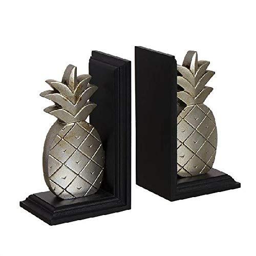 Jgo 2 ananas boekensteunen voor kinderen, wanddecoratie, uniseks, voor volwassenen, veelkleurig (meerkleurig), uniek