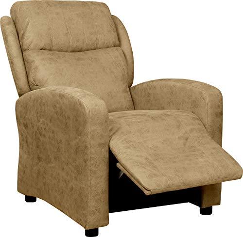 Imperial Relax | Sillon Relax Reclinable Imperial ALB | Tela Magnolia |Reclinado de reposapies y Respaldo por Empuje | Reclinacion 160º | (Piedra)