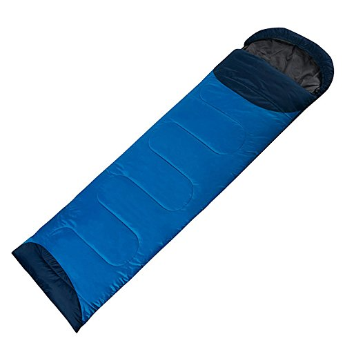 QFFL shuidai Enveloppe Sac de Couchage/Splicable / Outdoor Camping Randonnée Outdoor Rectangulaire Unique Épaissir Sac de Couchage en Coton (190 + 30) * 72cm (Couleur : Blue-Left)