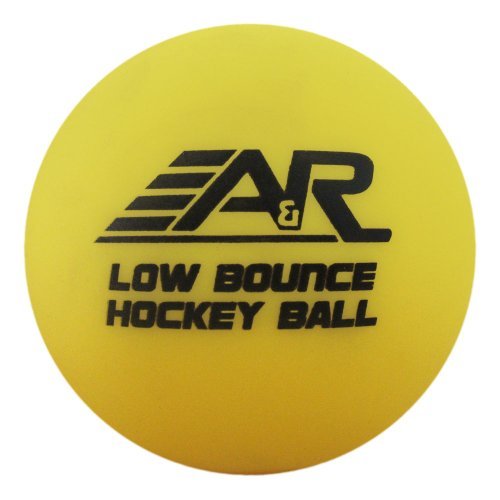 A & R Sports geringer rücksprung Street Hockey Ball, gelb, Einheitsgröße