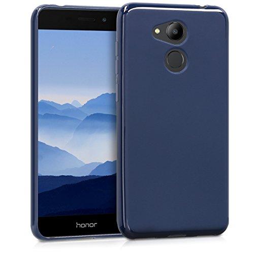 kwmobile Funda Compatible con Honor 6C Pro - Carcasa de TPU Silicona - Protector Trasero en Azul Oscuro Mate