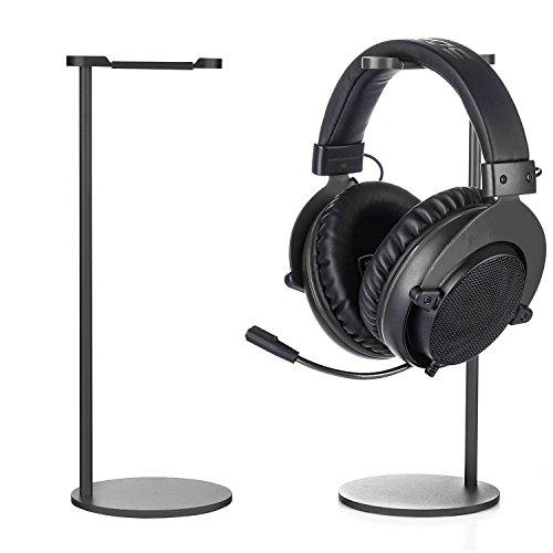 TechVibe Headphone Stand, Desktop Aluminum Headphone Holder for Bose, Beats, Sony, Sennheiser, Philips, Skull Candy, Plantronics, JVC, Gaming, DJ, Universal Headphone Compatibility - Rose Gold