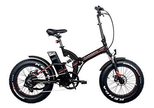 Argento Bike-Bimax Red, e-bike pieghevole fat, Nero e Rosso, ruote 20''