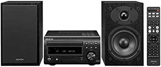 Denon D-M41 Home Theater Mini Amplifier and Bookshelf Speaker Pair - Compact HiFi Stereo System with CD, FM/AM Tuner and Wireless Bluetooth Music   Perfect for Small Rooms and Home Cinema