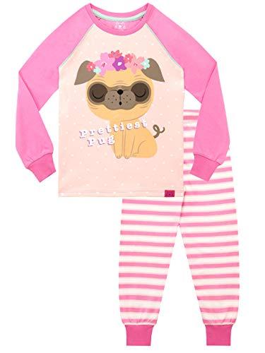 Harry Bear Pijamas para Niñas Pug Más Bonito Rosa 7-8 Años