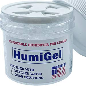 HumiGel Humidity Booster Cigar humidor humidifier New 2021 Version | Adjustable fine-Tune 65%-75% Humidity | Crystal Gel, 2 oz jar | humidor humidifier | humidor Seasoning | Made in USA