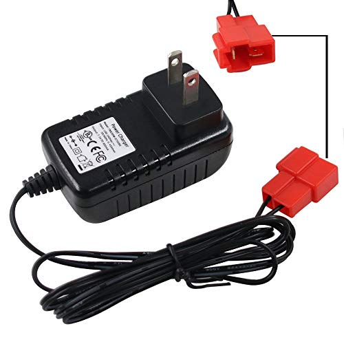 6V Kids Ride On Car Charger , 6 Volt Battery Charger for BMX X6 Kid TRAX Disney GMC Dinsney Wal-Mart Kid TRAX Moto ATV Quad Disney Ride On Car Red Square Plug