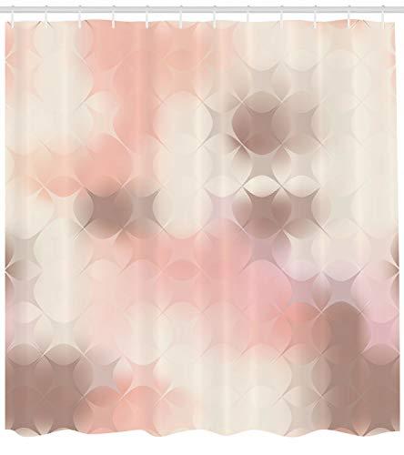 taquxinlaowan Pfirsich-Duschvorhang-Quadrate Moderner Kunstwerk-Druck für Badezimmer