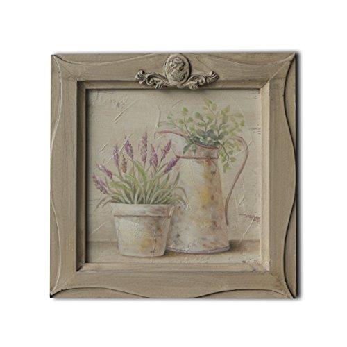 CVHOMEDECO. Cuadro en relieve con imagen de bonsái pintada a mano sobre marco de madera, pintura al óleo para decoración de pared, 11 x 11 pulgadas