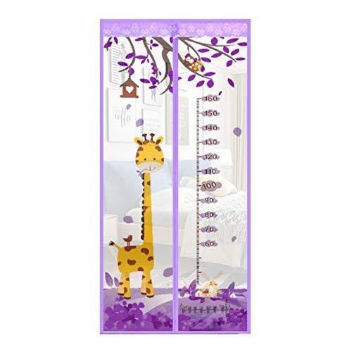 Anti-Mücken-Magnetgitter Tür Cartoon Tiermuster Magnetschnalle Magnetstreifen schließt automatisch das verschlüsselte Gitter Türgitter A5 B120xH210