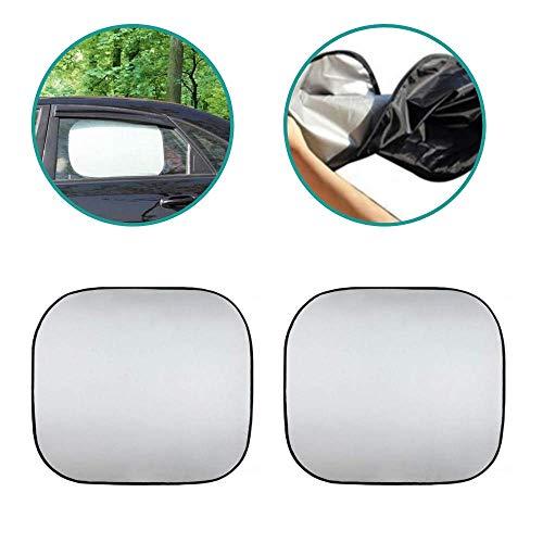 Wis-dom Patabit - Parasol para coche, parabrisas interior para niños, de poliéster, reflectante, 2 laterales de 44 x 36 cm