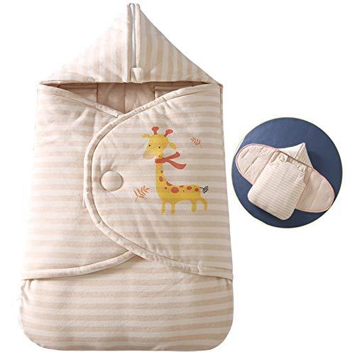 Sacos de dormir Edredón recién nacido en otoño e invierno, espesado anti tiro del edredón bolsa de dormir Manta Anti-sobresalto for los bebés y las niñas ( Color : Thick strips , Size : 0-16 months )