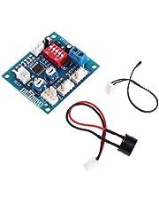 BIlinli 12 V CPU Fan Temperatuurregeling PWM Speed Controller Module Alarm Buzzer Sensor Fan Controllers