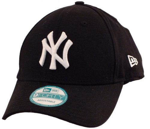 New Era 9forty Strapback Cap MLB New York Yankees #2504, One-size-fitts-all, White/Black