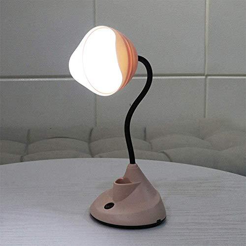 Lámpara De Pared Simple Y Fresca Escritorio led lectura Lámpara de mesa de cuello de cisne flexible de la luz, lámparas de cabecera con cuidado de ojos USB Puerto de carga con soporte de lápiz y sopor