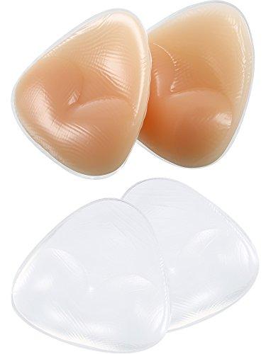 Hestya 2 Paar Bikini Gel Pads Silikon BH Einsätze Push Up Brustvergrößerer