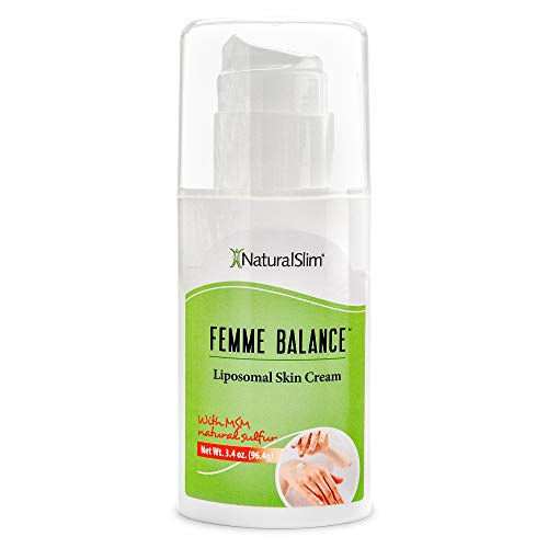 NaturalSlim Femme Balance - Progesterone Cream for Women - Natural Hormonal Balance & Menopause Support Creams for Women's Health - Liposomal Skin Cream - 60 Pumps 3.4 oz