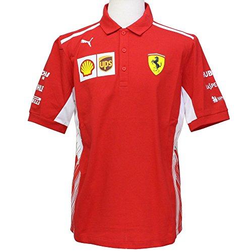 Ferrari Scuderia Formula 1 Men's Red 2018 Team Polo Shirt w/Sponsors (XS)