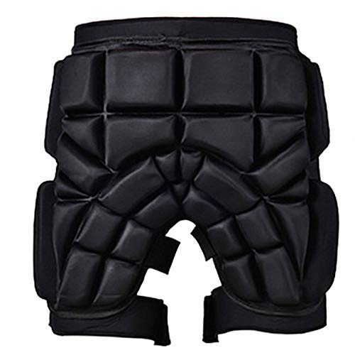 Pvnoocy Skateboarding Gepolsterte Shorts, schützende gepolsterte Shorts für Snowboard Skate für Hip Butt und Steißbein (xs)