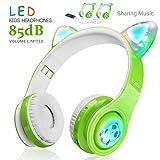 Kinder Funkkopfhörer, LED-Blinklichter, Musik-Sharing-Funktion, Langlebige Batterie und eingebautes...