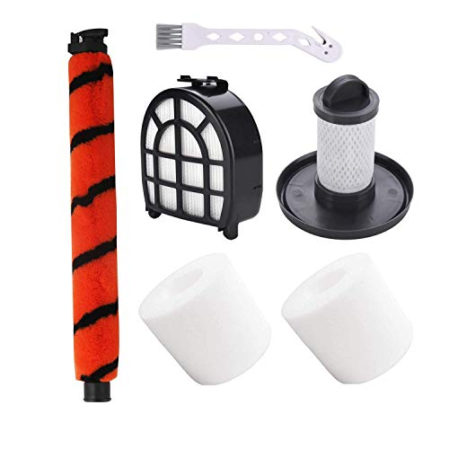 Cxnply Brush Roll and Filters Kit Compatible with Shark LZ601, LZ600, LZ602,QU602,QU603 APEX UpLight Lift-Away DuoClean Vacuums. (6 Pack)